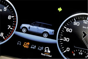 2010 Range Rover gets a 12-inch wide virtual gauge cluster